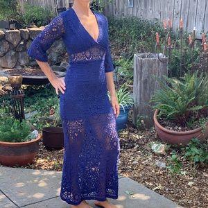 . Nightcap free people blue lace maxi dress Bxd